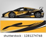 rally car wrap vector designs.... | Shutterstock .eps vector #1281274768