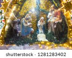 christmas  new year holidays ... | Shutterstock . vector #1281283402