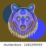 cool bear illustration for t... | Shutterstock .eps vector #1281290455
