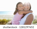 grandmother and grand daughter... | Shutterstock . vector #1281297652