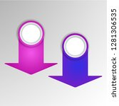 abstract 3d infographic... | Shutterstock .eps vector #1281306535