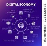 digital economy concept...
