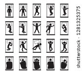 sleeping positions icon set.... | Shutterstock .eps vector #1281325375