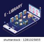 isometric artwork of an e... | Shutterstock .eps vector #1281325855