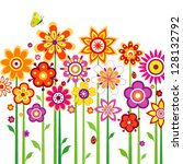 flower background with... | Shutterstock .eps vector #128132792