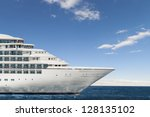 profile of the figurehead of a... | Shutterstock . vector #128135102