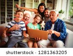 portrait of happy multi... | Shutterstock . vector #1281363205