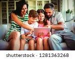 parents with their children...   Shutterstock . vector #1281363268