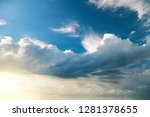 white clouds on the background... | Shutterstock . vector #1281378655