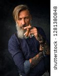 Portrait Of A Cool Hipster Wit...
