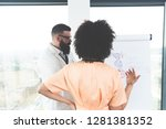 back view of young professional ...   Shutterstock . vector #1281381352