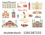 istanbul city colorful vector... | Shutterstock .eps vector #1281387232