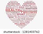 health tagcloud vector... | Shutterstock .eps vector #1281403762