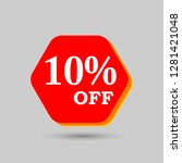 10  off sale discount banner.... | Shutterstock .eps vector #1281421048