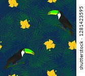 exotic composition of toucans...   Shutterstock .eps vector #1281423595