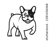 french bulldog   isolated... | Shutterstock .eps vector #1281436468