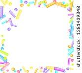 sprinkles grainy. sweet... | Shutterstock .eps vector #1281439348