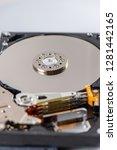 hard disk rotating details....   Shutterstock . vector #1281442165