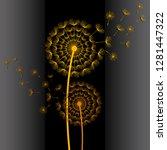 beautiful abstract black... | Shutterstock .eps vector #1281447322