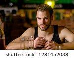 grabbing a drink after work.... | Shutterstock . vector #1281452038