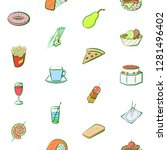 various images set. background... | Shutterstock .eps vector #1281496402