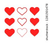 heart icons  symbol of love... | Shutterstock .eps vector #1281501478