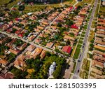 Drone Aerial View Of A Typical...