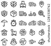 ecommerce icons pack2 | Shutterstock .eps vector #1281538762