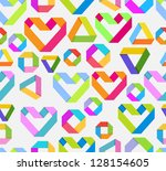 seamless bright background with ... | Shutterstock . vector #128154605