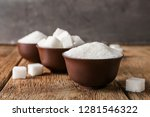 bowls with refined sugar on... | Shutterstock . vector #1281546322