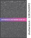 database and network vector...   Shutterstock .eps vector #1281563092