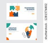 creative and teamwork business...   Shutterstock .eps vector #1281576802