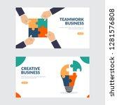 creative and teamwork business...   Shutterstock .eps vector #1281576808