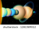 solar system diagram in... | Shutterstock .eps vector #1281589012