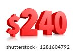240  two hundred forty price... | Shutterstock . vector #1281604792
