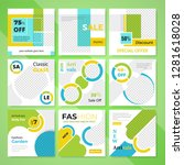 9 slides unique editable modern ... | Shutterstock .eps vector #1281618028