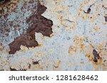 texture of rusty iron  cracked... | Shutterstock . vector #1281628462