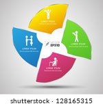 vector  business concepts with... | Shutterstock .eps vector #128165315