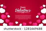 illustration love romance... | Shutterstock .eps vector #1281669688
