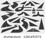 curved road in perspective.... | Shutterstock . vector #1281692572