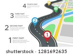 highway road infographic.... | Shutterstock . vector #1281692635
