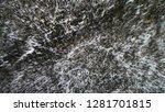 aerial view of beautiful winter ... | Shutterstock . vector #1281701815