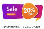 20 percent discount  sales... | Shutterstock .eps vector #1281707305