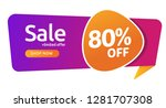 80 percent discount  sales...   Shutterstock .eps vector #1281707308
