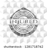 injured grey emblem with cube... | Shutterstock .eps vector #1281718762