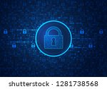 concept of cyber security ... | Shutterstock .eps vector #1281738568