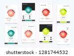 abstract vector business... | Shutterstock .eps vector #1281744532