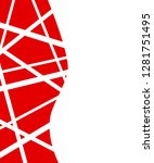 abstract red geometric... | Shutterstock .eps vector #1281751495