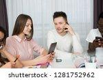 international students studing... | Shutterstock . vector #1281752962