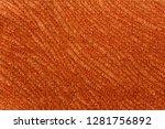 spectacular warm orange textile ... | Shutterstock . vector #1281756892